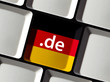 .de Domainendung Tastatur