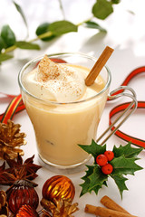 eggnog at christmas time