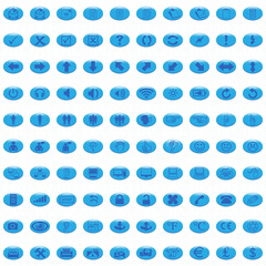 100 blue business icons, webicon, shiny buttons