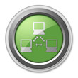 """Green 3D Style Button """"Network"""""""
