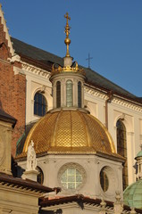 Golden dome of the Chapel at Cathedral in Krakow