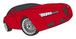 Red hatchback concept drawing