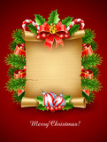 christmas holiday greetings script with decoration vector