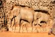 Relief im Tempelbezirk von Mahabalipuram