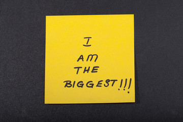 I Am The Biggest