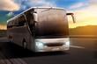 Leinwanddruck Bild - Bus at Sunset