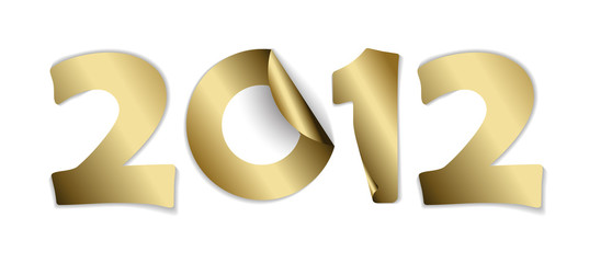 2012 made from vector golden stickers