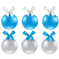 Christmas Silver And Blue Ball