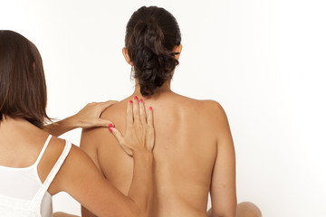 Massage of shoulder