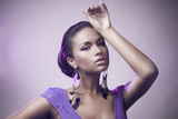 Fashion portrait of beautiful african woman