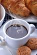 caffè e croissant - tre