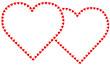Tiny Valentine Hearts Frames, Copy Space.