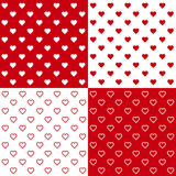 Seamless Tiny Hearts Backgrounds, EPS includes 4 pattern tiles.