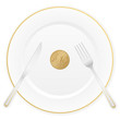 plate and ten euro cent
