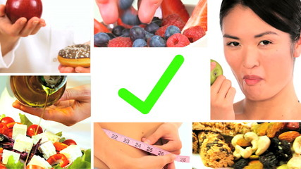 Montage of Fresh Healthy Food Choices