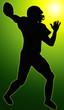 Green Glow Sport Silhouette - American Football