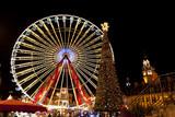 La grande roue sur la grand-place de Lille à Noël