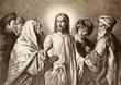Leinwandbild Motiv Jesus and the money