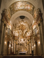 Vienna - baroque altar from st. Charles Boromeo church