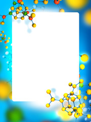 Frame with molecules background