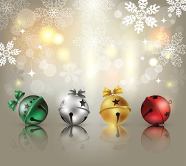 Christmas Background with ornaments.