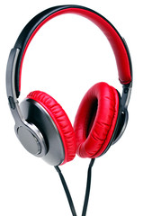 Fashion headphones on a white background.