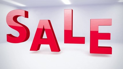 Sale sign on animated background