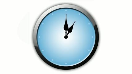 Uhr Animation 12 Stunden in 60 Sekunden