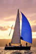Sail boat on sunset