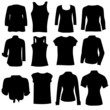 clothing for women black art silhouette