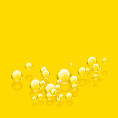 bubbles yellow square