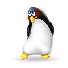pinguino timido