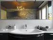 lavabo bianco in bagno moderno