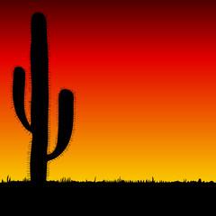 cactus big black silhouette