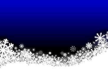 Schnee im blauen Htgr.