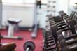 Leinwanddruck Bild - Hantelbank in einem Fitnesscenter