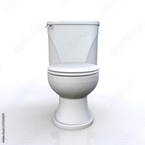 3D Toilette geschlossen frontal