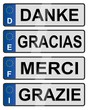 European number plates