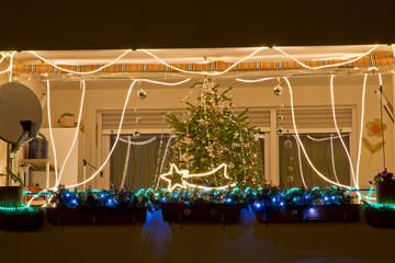 Christmas balcony