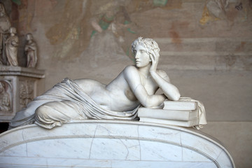 Pisa Campo Santo: The reclining figure represents the Science.