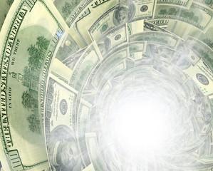 Dollar flow in white light  hole