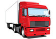 Vector isolated semi truck without gradients