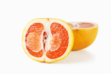 Grapefruit cut on two parts