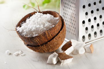 grated coconut with grater