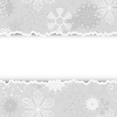 Torn christmas background with place for your text.