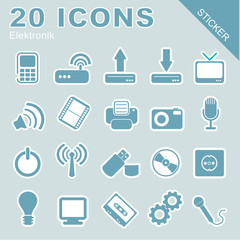 20 Icons Elektronik