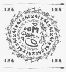 Asian character range protective mantra mandola