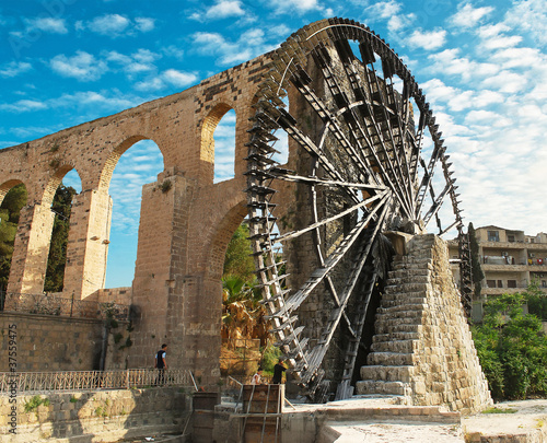Hama water-wheel
