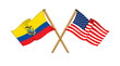 America and Ecuador alliance and friendship
