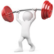 Athlete lifting weights